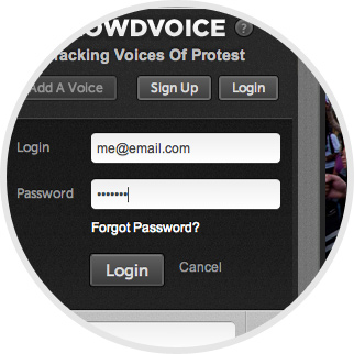 Crowdvoice - Log-in with your username and password and you're ready to go! image